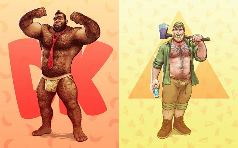 Osos Donkey Kong y Link